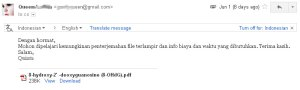 Order terjemahan dari pelanggan Jakarta
