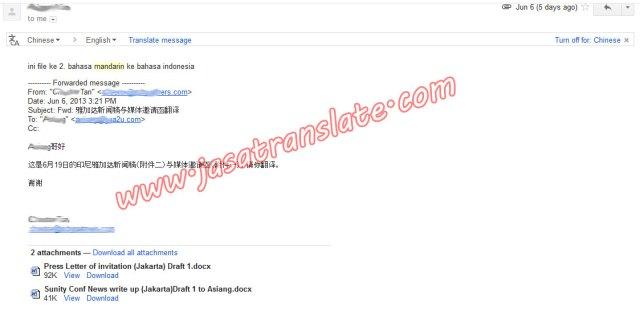 Order terjemahan dari Malaysia Inggris Mandarin ke Bahasa Indonesia