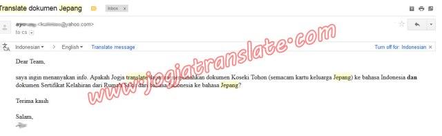 Terjemahan indonesia Jepang