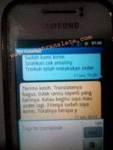 Order terjemahan Samarinda Kaltim