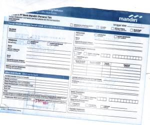 bukti transfer order terjemahan dari banjarmasin