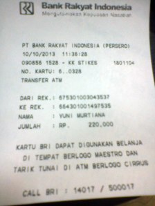 Orderan tgl 10-10-2013