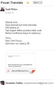 Order Terjemah Jurnal